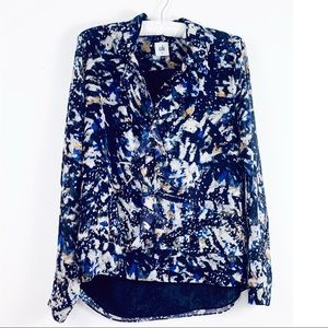 CAbi Blouse Ruffle Front Small
